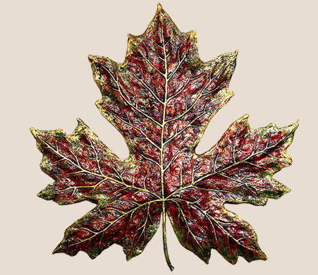 paper pulp maple leaf